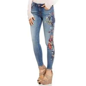 6ca0d016980b8e William Rast Embroidered Perfect Skinny Jeans from Dillard's.