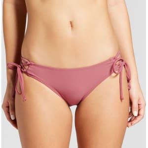 e12021c377b64 Women s Lace-Up Cheeky Bikini Bottom - Xhilaration Primrose S