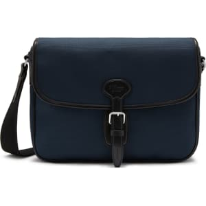 a136654ab Mulberry Small Heritage Messenger in Midnight Nylon and Smooth Calf ...