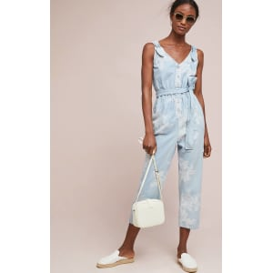 a38946d49c3 Pilcro Printed Denim Jumpsuit from Anthropologie.