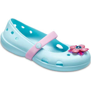 10cc55af8 Crocs Ice Blue Kids  Crocs Keeley Springtime Flats Shoes from Crocs.