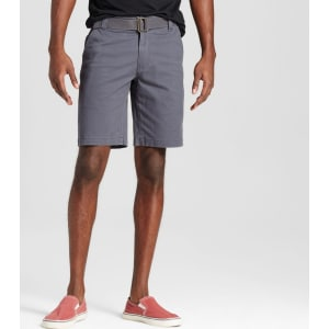 0e6d7729ea Men's Belted Flat Front Chino Shorts With Stretch 10 - Mossimo ...