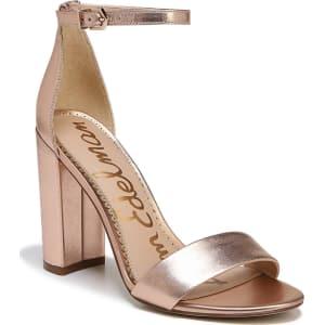 186b09fb70b334 Sam Edelman Yaro Metallic Leather Ankle Strap Block Heel Dress ...
