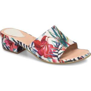 ONO Bo Floral Fabric Block Heel Sandals