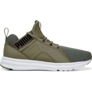 Puma Men s Enzo Sneakers (Olive White) from Famous Footwear. 871de683d