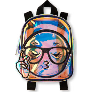 522e038e0a8f Girls Clear Iridescent Emoji Mini Backpack - Multi from The ...