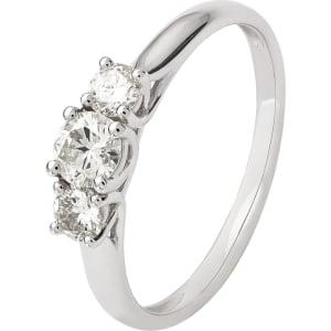 a29dc005e80bd Revere 9ct White Gold 0.50ct Tw Diamond Trilogy Ring