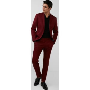 2fd114553 Express Mens Extra Slim Red Cotton Sateen Suit Pant from Express.