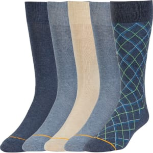 d7b1555ea379d Signature Gold by Goldtoe Men's 5pk Diamond Value Pack Socks - Blue ...