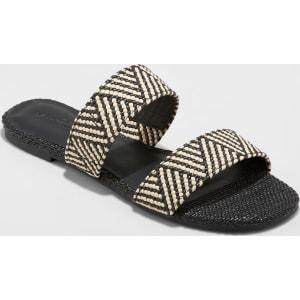 9d96c0b20 Women's Anniemae Woven Slide Sandal - Universal Thread Black 8 from ...