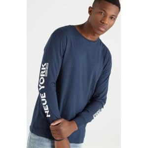 ad336115dad2cf Cotton on Men - Tbar Long Sleeve - Ae Araz Blue/Neue York from ...