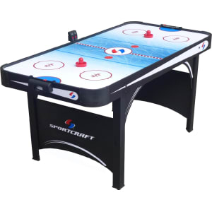 Sportcraft 66 Electronic Air Hockey Table With Table Tennis Top