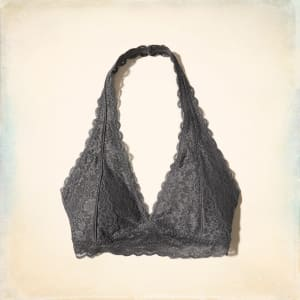 5e6350b271822 Lace Halter Bralette With Removable Pads from Hollister Co..