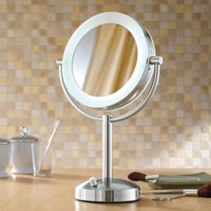 10X/1X Natural Light Tabletop Makeup Mirror