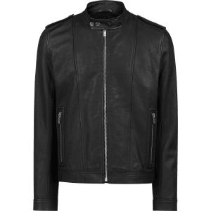 60b2e24d5 Hugo Boss Biker Jacket in Nappa Leather Chunky Hardware M Black