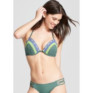 Womens Shore Light Lift Crochet Halter Bikini Top Shade Shore