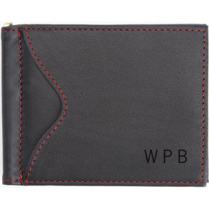 44d72493c3d Personalized Royce Genuine Leather Slim Men s Money Clip Credit Card Wallet  from Brookstone.