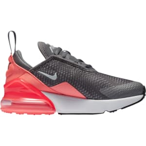 e2ebab32ffd8 Girls Nike Air Max 270 - Preschool - Grey/White/Pink from Champs Sports.