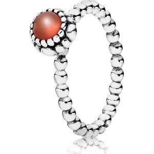 067330e66 ... Pandora July Birthstone Ring - Sterling Silver Carnelian Orange .