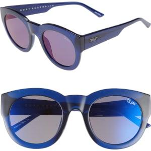 47e406ad4aeab Women s Quay Australia If Only 50Mm Round Sunglasses - Blue  Blue ...