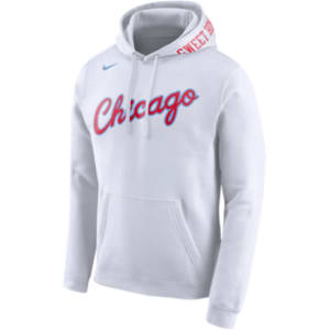 11a80a71b Chicago Bulls Nike Nba City Edition Club Logo Hoodie - Mens - White ...