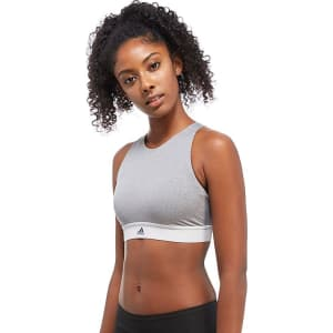 ef3e8783ff4d8 Adidas Crop Bra - Grey - Womens from JD Sports.