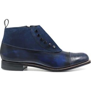 faf50d7fec7 Stacy Adams Men's Madison Cap Toe Side Zip Demi Boots (Navy Leather)