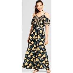 8028ccb528 Women s Cold Shoulder Surplice Maxi Dress - Xhilaration (Juniors ...