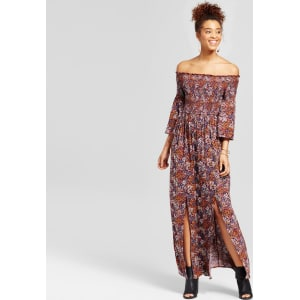 Women s Smocked Off the Shoulder Maxi Dress - Xhilaration (Juniors ... 613d7d9c55