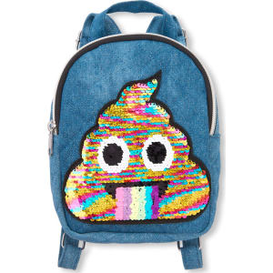c934a25e876d Girls Flip Sequin Emoji Denim Mini Backpack from The Children s Place.