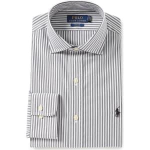 15b3ea44ebb Polo Ralph Lauren Easy Care Classic-Fit Spread-Collar Striped Dress ...