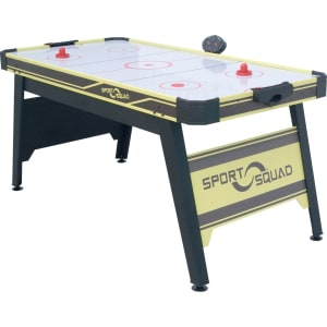 Joola Sport Squad 66in Air Powered Hockey Black Yellow With Table Tennis Conversion Top