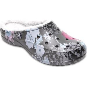 e706bc107 Crocs Floral Slate Grey Women s Crocs Freesail Graphic Fuzz Lined ...