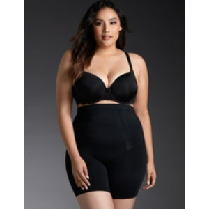 d980d4f0dbad1 Spanx - Oncore Mid-Thigh Short in Black White from Torrid.