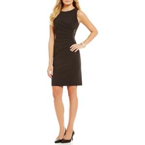 e0ce3274813 Ivanka Trump Sunburst Pleated Zipper-Trim Ponte Knit Sheath Dress ...