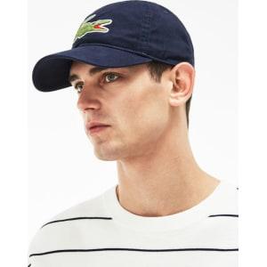 Lacoste Men s Big Croc Cap - Navy Blue from Lacoste. 61b394f36e1