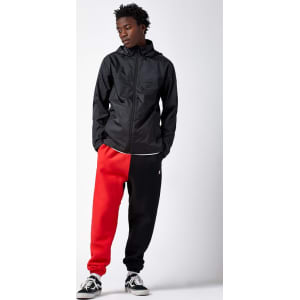 champion reverse weave colorblock sweat pants redblack