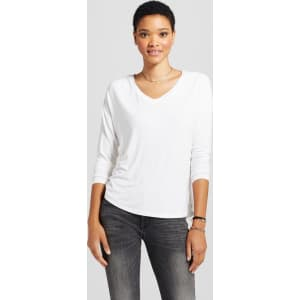 12b549a59 Women's Softest Long Sleeve V-Neck T-Shirt - Mossimo Supply Co ...