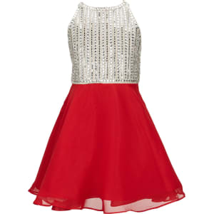 122eafa156 Tween Diva Big Girls 7-16 Rhinestone Fit-And-Flare Dress from Dillard s.