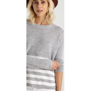 a61470757 Cotton on Women - Archy 2 Pullover - Slate Twist White Stripe from ...