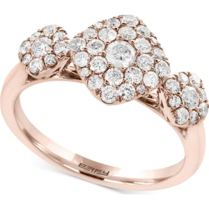 eaec1ff19a9c Pave Rose by Effy Diamond Tri-Cluster Ring (3 4 Ct. t.w.) in 14k Rose Gold  from Macy s.