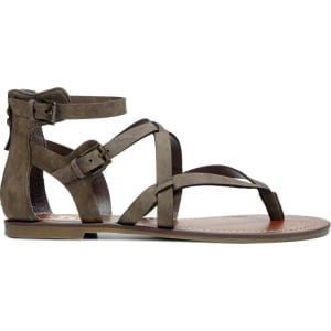 24bb57b5890f G by Guess Women s Howy Gladiator Sandals (Gray) from Famous Footwear.