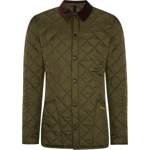 Men S Barbour Heritage Liddesdale Quilted Jacket Green From House
