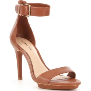 7d7b7110dd0d0 Gianni Bini Lizette Leather Ankle Strap Dress Sandals from Dillard s.