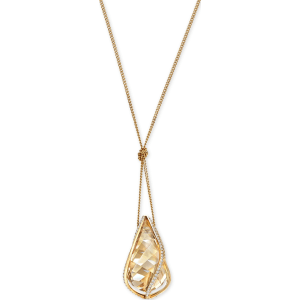 4f4ee053d Swarovski Gold-Tone Knotted Crystal Energy Pendant Necklace from Macy's.