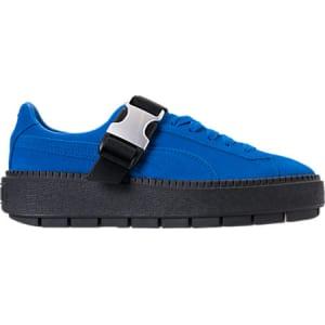 9169aae920e Puma Women s Suede Platform Trace Buckle Casual Shoes