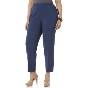 40d1e026e89006 Plus Size Laura Scott Women's Plus Comfort-Waist Pants - Short ...