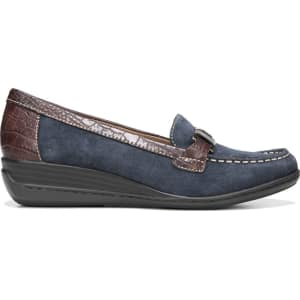 bfbae340e5f Natural Soul Women s Wilson Medium Wide Loafers (Navy) from Famous Footwear.