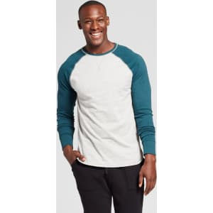 c29ee639f3857 Men s Standard Fit Long Sleeve Raglan Color Block Crew T-Shirt ...