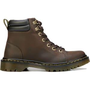 009c03e6543d Dr Martins Women s Faora Combat Boots (Dark Brown) from Famous Footwear.